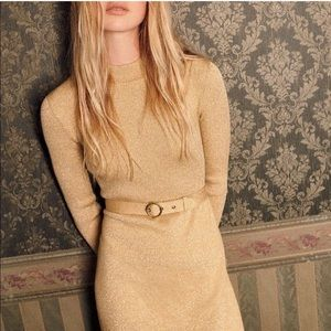 Free People French Girl Mock Neck Sweater Dress